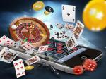 smartphone cartes jetons casino dés